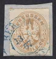 GERMANIA PREUSSEN - Yvert 20 Usato Su Frammento Di Busta,  3 S, Bistro. - Preussen