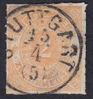 WURTTENBERG -  Yvert 37, Usato, 2 K., Arancio. - Wurtemberg