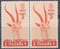 AFRICA ORIENTALE ITALIANA - 1938 - Coppia Di Yvert 1 Nuovi MNH Uniti Fra Loro. - Italienisch Ost-Afrika