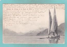 Small Post Card Of Barque Du Leman Et La Dent Du Midi,Valais, Switzerland,Q98. - VS Valais