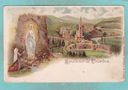 Small Post Card Of Souvenir De Lourdes,Hautes-Pyrénées,Occitanie, France,Q98. - Lourdes