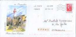 France Entier-P Obl (Yv:4230-E2) Marianne De Beaugard (Lign.Ondulées) Plougonvelin - Postal Stamped Stationery