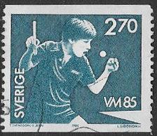 Sweden SG1244 1985 World Table Tennis Championships 2k.70 Good/fine Used [39/31868/6D] - Sweden