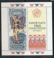 Indonesia 1968 Tourist Publicity MS MUH - Indonesia