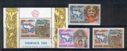Indonesia 1969 Tourist Publicity + MS (30r Light Crease) MUH - Indonesia