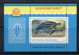 Indonesia 1979 Marine Life,Wildlife Protection, Turtle MS MUH - Indonesia