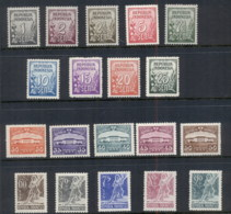 Indonesia 1951-53 Pictorials, Numerals, Mythology MLH - Indonesia