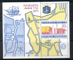 Indonesia 1971 Djakarta 444th Anniversary MS MUH - Indonesia