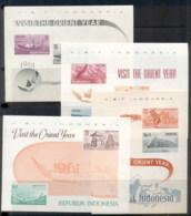 Indonesia 1961 Tourist Publicity 4x MS MUH - Indonesia