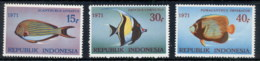 Indonesia 1971 Marine Life Fish MUH - Indonesia