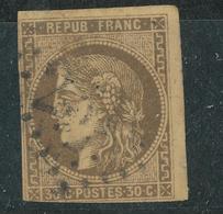N°47 BORDEAUX NUANCE ET OBLITERATION. - 1870 Emission De Bordeaux