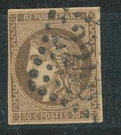N°47 BORDEAUX NUANCE ET OBLITERATION. - 1870 Bordeaux Printing