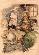 Cartes à Jouer Carte Da Gioco Playing Cards Spielkarten Antica Illustrazione 1930 Ancient Illustration Pipa Pipe Rohr - Andere