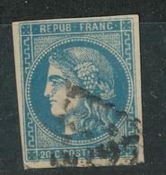 N°45 BORDEAUX NUANCE ET OBLITERATION. - 1870 Ausgabe Bordeaux