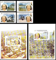 SIERRA LEONE 1992 Queen Elizabeth II Acces. IMPERF.SET:4 IMPERF Sheetlets:2 - Sierra Leone (1961-...)