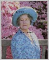 SIERRA LEONE 1995 Queen Mother Flower Blossom IMPERF.SHEETLET - Sierra Leone (1961-...)