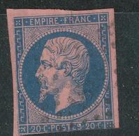 N°14B TYPE II BLEU SUR LILAS. - 1853-1860 Napoléon III