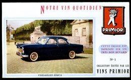 BUVARD VIN PRIMIOR N° 1 - Automobile - VERSAILLES SIMCA - Automobile