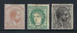 ESPAÑA 1870 /1878 Nº 110 ,128 & 193 - 1872-73 Kingdom: Amadeo I