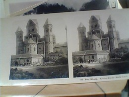 STEREOSCOPICA GERMANY KLOSTER KIRCHE MARIA LAACH DER RHEIN HOLZTHURUM 1903 HA7392 - Cartoline Stereoscopiche