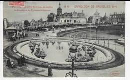 BELGIQUE - Exposition De BRUXELLES - 1910 - Panorama De Bruxelles Kermesse, Des Jardins De Bruxelles Et Des Fontain(Q93) - Expositions Universelles