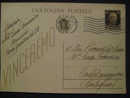 VINCEREMO INVIATA A 20° COMPAGNIA FERROVIERI 1942 CASTELMAGGIORE BOLOGNA BEL RETRO - Weltkrieg 1939-45