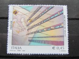 *ITALIA* USATI 2004 - ARCHIVIO DI STATO FIRENZE - SASSONE 2779 - LUSSO/FIOR DI STAMPA - 6. 1946-.. Repubblica