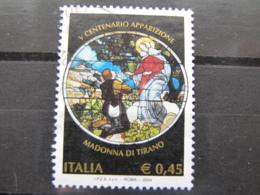 *ITALIA* USATI 2004 - 5° CENT MADONNA DI TIRANO - SASSONE 2777 - LUSSO/FIOR DI STAMPA - 6. 1946-.. Repubblica