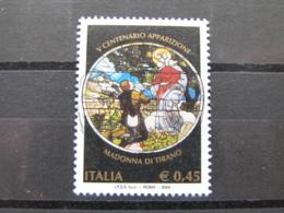 *ITALIA* USATI 2004 - 5° CENT MADONNA DI TIRANO - SASSONE 2777 - LUSSO/FIOR DI STAMPA - 1946-.. Republiek