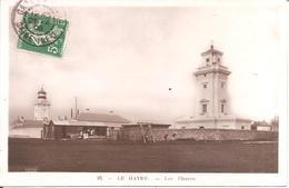 LE HAVRE (76) RARE Carte Photo Glaçée - Les Phares En 1909 - Le Havre