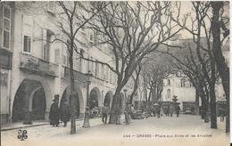 Carte Postale Ancienne De Grasse Place Aux Aires Et Les Arcades - Grasse
