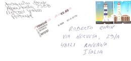 LETTERA X ITALY CON FRANCOBOLLI FARI - Fari