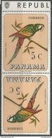 Panama - 1967 Macaw 5c Tete Beche Pair MNH **       Sc 478D - Panama