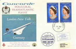 GUERNSEY, SOBRE CONMEMORATIVO LONDON-N. YORK - Guernsey
