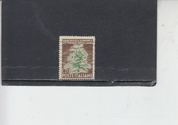 ITALIA  1950 - Sassone 630° - Tabacco - 6. 1946-.. Repubblica