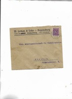 Brief Von Regensburg Nach München 1922 - Lettres & Documents
