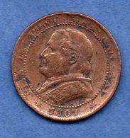 Vatican  -  1 Soldo 1867 R  -  Km # 1372.2  - état  TB - Vatican
