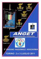 [MD2617] CPM - 3° RADUNO NAZIONALE ASSOARMA - TORINO - A.N.G.E.T - GENIERI - CON ANNULLO 2.7.2011 - Non Viaggiata - Militari