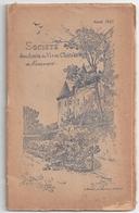 """Annuaire 1920 """"Société Des Amis Du Vieux Château De Nemours"""" -compte-rendu 1914/1920 -année 1921 - Ile-de-France"""