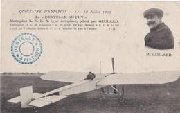 Quinzaine D Aviation 15 30 Juillet 1912 La DENTELLE DU PUY Pilote Par GAULARD - Le Puy En Velay