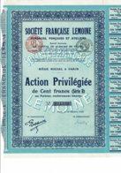"""75-LEMOINE. STE FSE ...Sondages Fonçages Ateliers. Action Privil """"B"""" 47MF. Lot De 2 - Other"""