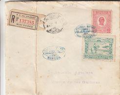 Uruguay - Lettre Recom De 1925 ° - Oblit Montevideo - Vol Spécial Du 24/09/25 - Exp Vers Rincon - Tirage 15328 Timbres ! - Uruguay