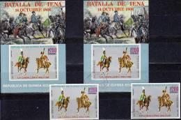 Napoleon Zu Pferde 1976 Guinea Äquatorial 783,Blocks 208 **/o 16€ General Kavallerie S/s Art Blocs Sheets Bf Africa - Horses