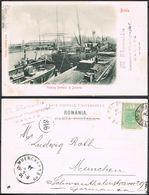 Cpa, BRAILA, Vederea Portului Si Docurile, Gel. 1901 - Romania