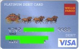 Carte Visa - Wells Fargo - Platinium Debit Card - Banque USA - Année 2005 - Cartes De Crédit (expiration Min. 10 Ans)