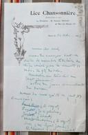 75 PARIS 10eme  LICE CHANSONNIERE  Rue Des Marais 1831 H. LEPOINTE - Old Paper