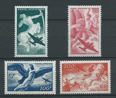 FRANCE 1946/47 . Poste Aérienne . Série N°s 16 à 19 . Neufs **  (MNH) - Poste Aérienne