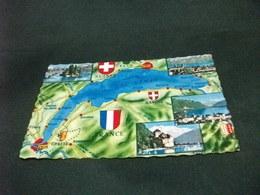 CARTA GEOGRAFICA  LAC LEMAN  VEDUTE SVIZZERA - Carte Geografiche