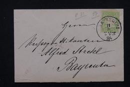 ALLEMAGNE - Enveloppe De Bayreuth En Port Local En 1884 - L 21442 - Beieren