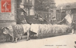 Rare Cpa  Préfailles La Cavalcade 1907 Le Char Italien Venise Avec Boeufs - Préfailles